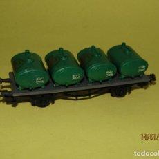 Trenes Escala: ANTIGUO VAGÓN CISTERNAS ACEITES ÁBACO DE ALCAÑIZ EN ESCALA *H0* DE JUGUETES PAYÁ. Lote 146990238