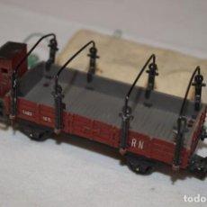 Trenes Escala: VAGÓN TELERO RENFE. REF. 1671. PAYÁ. FABRICADO EN ESPAÑA. AÑOS 60. ROMANJUGUETESYMAS.. Lote 151299082