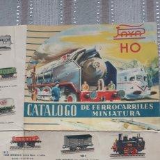 Trenes Escala: CATALOGO DE FERROCARRILES EN MINIATURA PAYA,DESPLEGABLE. Lote 151748781