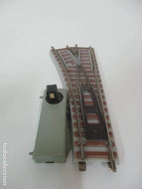 Trenes Escala: Desvío Automático Izquierda - Marca Paya HO - Ref 1466 - Caja Original - Foto 4 - 169676356