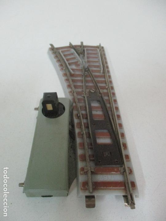 Trenes Escala: Desvío Automático Izquierda - Marca Paya HO - Ref 1466 - Caja Original - Foto 6 - 169676356