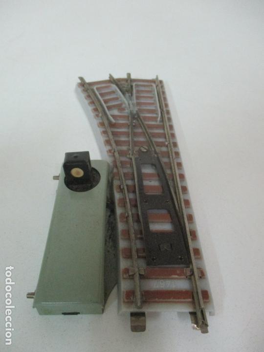 Trenes Escala: Desvío Automático Izquierda - Marca Paya HO - Ref 1466 - Caja Original - Foto 10 - 169676356