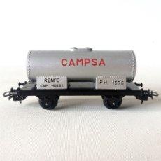 Trenes Escala: VAGÓN CISTERNA PAYÁ H0 - CAMPSA RENFE. Lote 174171702