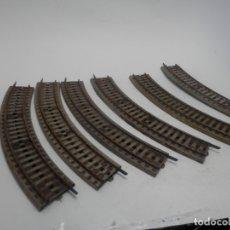 Trenes Escala: LOTE VIAS CURVAS ESCALA HO DE PAYA . Lote 177733989
