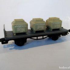 Trenes Escala: PAYÁ VAGÓN RENFE DE TRANSPORTE DE ÁCIDO SULFÚRICO ENSIDESA . Lote 177762265