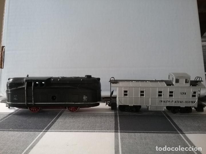 Trenes Escala: LOCOMOTORA DE PAYA MÁS VAGÓN MERCANCIAS PAYA H0 - Foto 8 - 177770688