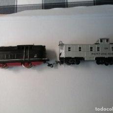 Trenes Escala: LOCOMOTORA DE PAYA MÁS VAGÓN MERCANCIAS PAYA H0. Lote 177770688