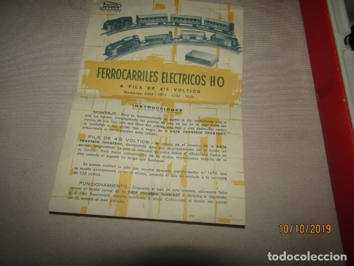 Trenes Escala: Antigua Caja con Tren Eléctrico en Escala *H0* de PAYA - Foto 5 - 178889987