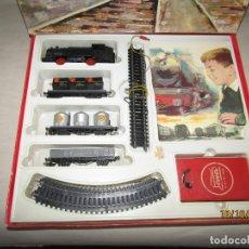 Trenes Escala: ANTIGUA CAJA CON TREN ELÉCTRICO COMPLETO EN ESCALA *H0* DE PAYA. Lote 178889987