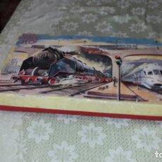 Trenes Escala: TREN PAYA HO LOCOMOTORA VAPOR 1632 MERCANCIAS, TREN ANTIGUO, TREN DE JUGUETE, TREN PAYA HO. Lote 182798641