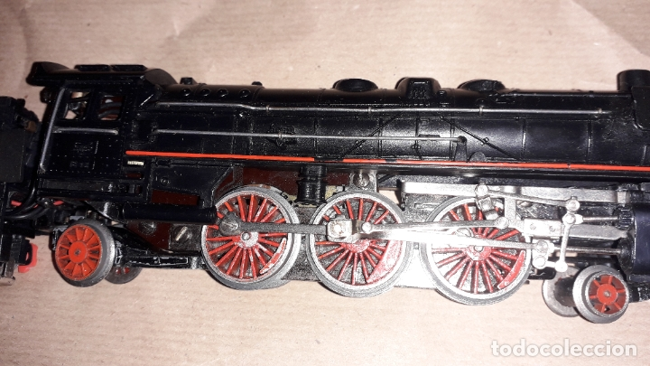 Trenes Escala: TREN PAYA HO MERCANCIAS LOCOMOTORA REF. 1632, TREN ANTIGUO, TREN PAYA, JUGUETE ANTIGUO - Foto 12 - 183331730