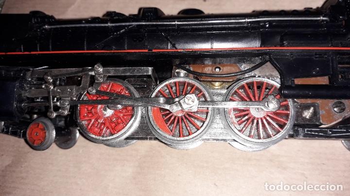 Trenes Escala: TREN PAYA HO MERCANCIAS LOCOMOTORA REF. 1632, TREN ANTIGUO, TREN PAYA, JUGUETE ANTIGUO - Foto 15 - 183331730