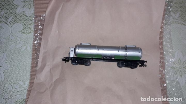 Trenes Escala: TREN PAYA HO MERCANCIAS LOCOMOTORA REF. 1632, TREN ANTIGUO, TREN PAYA, JUGUETE ANTIGUO - Foto 22 - 183331730