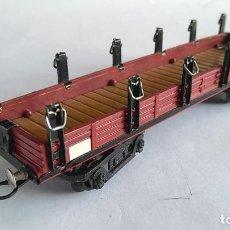 Trenes Escala: PAYÁ S VAGÓN CARGA ABIERTO TELERO AÑOS 50. Lote 186110473