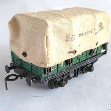 Trenes Escala: PAYÁ S VAGÓN CARGA 2 EJES CON TOLDO AÑOS 50. Lote 186110695