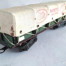 Trenes Escala: PAYÁ S VAGÓN CARGA 4 EJES CON TOLDO AÑOS 50. Lote 186110791