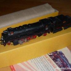 Trenes Escala: PAYA H0 MAQUINA TIPO SANTA FE CON TENDER 1630/1 EN CAJA ORIGINAL CON SU FOLLETO PUBLICITARIO. Lote 196382413