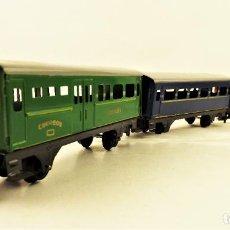 Trenes Escala: PAYA H0 CONJUNTO DE 3 VAGONES DIFERENTES METÁLICOS. Lote 197587195