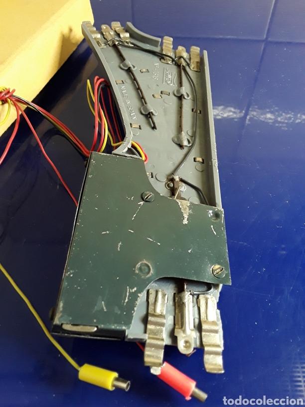 Trenes Escala: Antigua vía h0 desvio a la derecha eléctrico de paya con caja original - Foto 3 - 199814543