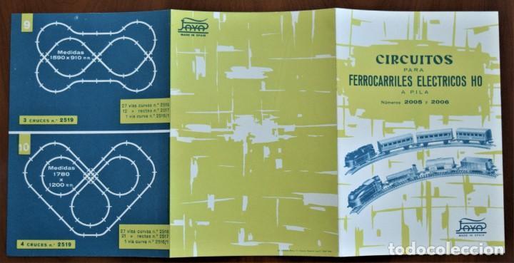 Trenes Escala: CATÁLOGO CIRCUITOS PARA FERROCARRILES ELÉCTRICOS HO A PILA PAYA NÚMEROS 2005 Y 2006 AÑO 1962 - Foto 3 - 208996492