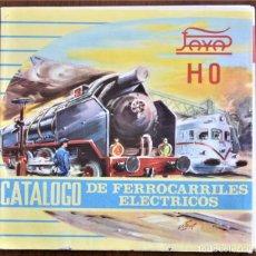Trenes Escala: CATÁLOGO DE FERROCARRILES ELÉCTRICOS HO DE PAYÁ AÑO 1960 - DESPLEGABLE. Lote 208996962