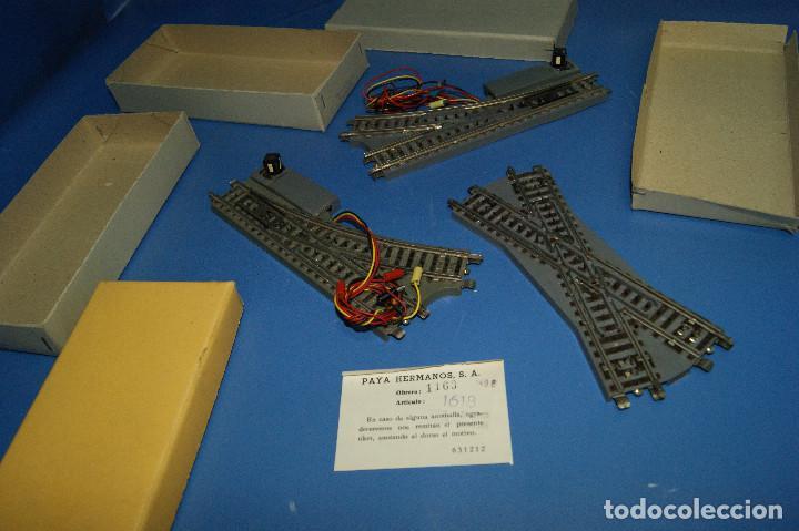 Trenes Escala: Lote de vias-lote de 2 desvios y 1 cruce vías Paya escala H0 -con sus cajas - Foto 2 - 210531817