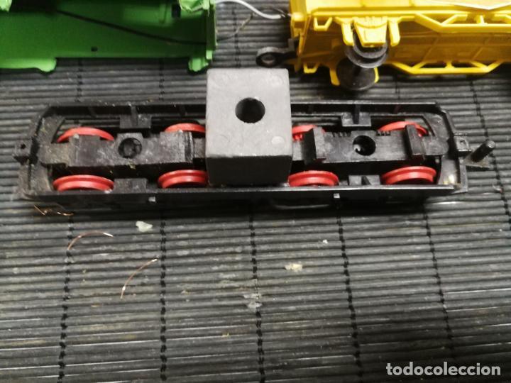 Trenes Escala: PAYA H0 ANTIGUA LOCOMOTORA ELECTRICA TIPO ALSTHOM, REFERENCIA 1823 CON VAGON PILAS TEXACO - Foto 3 - 214232790