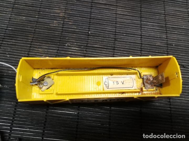 Trenes Escala: PAYA H0 ANTIGUA LOCOMOTORA ELECTRICA TIPO ALSTHOM, REFERENCIA 1823 CON VAGON PILAS TEXACO - Foto 5 - 214232790