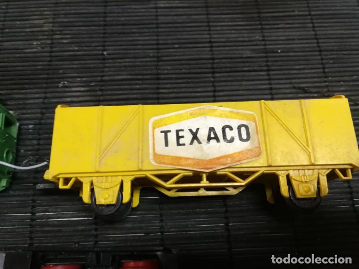 Trenes Escala: PAYA H0 ANTIGUA LOCOMOTORA ELECTRICA TIPO ALSTHOM, REFERENCIA 1823 CON VAGON PILAS TEXACO - Foto 7 - 214232790