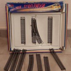 Trenes Escala: LOTE SET VIAS TREN PAYA HO CIRCUITOS AMPLIACION REF VIA RECTA DESVIO IZQ CURVA. Lote 214738123