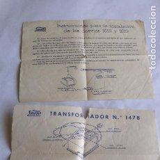 Trenes Escala: PAYA H0 / INSTRUCCIONES TRANSFORMADOR ALTERNA Y DESVÍOS. Lote 221456886