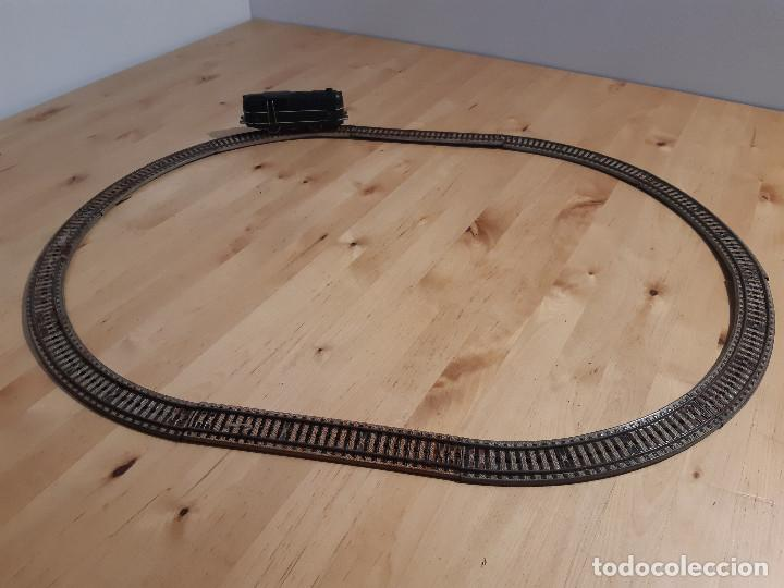 Trenes Escala: Locomotora eléctrica y circuito ovalado Payá. Años 50-60 - Foto 2 - 227736215