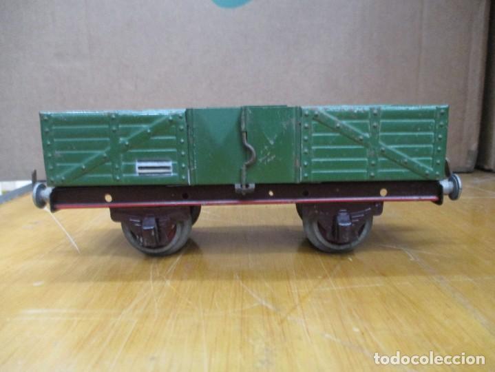 Trenes Escala: VAGON MERCANCIAS / TRANSPORTE / CARBONERA PAYA / AÑOS 40 - 50 / COLOR VERDE / HOJALATA ESCALA H0 - Foto 2 - 234724640