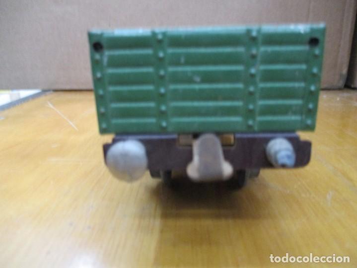 Trenes Escala: VAGON MERCANCIAS / TRANSPORTE / CARBONERA PAYA / AÑOS 40 - 50 / COLOR VERDE / HOJALATA ESCALA H0 - Foto 5 - 234724640
