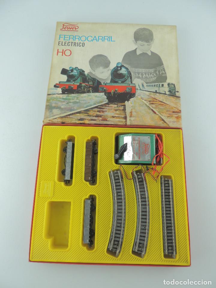 FERROCARRIL ELECTRICO HO PAYA, INCOMPLETO,AÑO 1967,EN SU CAJA (Juguetes - Trenes a Escala H0 - Payá H0)