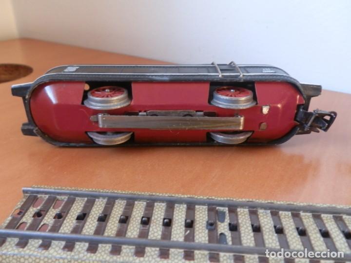 Trenes Escala: TREN PAYA: LOCOMOTORA 840, 2 VAGONES DE PASAJEROS, 1 DE CORREOS, POTENCIÓMETRO, 2 RECTAS, 8 CURVAS. - Foto 3 - 236599210