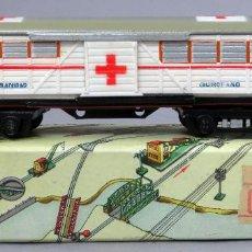 Comboios Escala: VAGÓN SANIDAD QUIRÓFANO TREN PAYÁ ESCALA S 1437 CON CAJA AÑOS 50. Lote 238617205