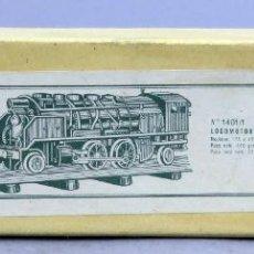 Comboios Escala: CAJA VACÍA LOCOMOTORA 1401/1 PAYÁ CON ETIQUETA AÑOS 50. Lote 238767890