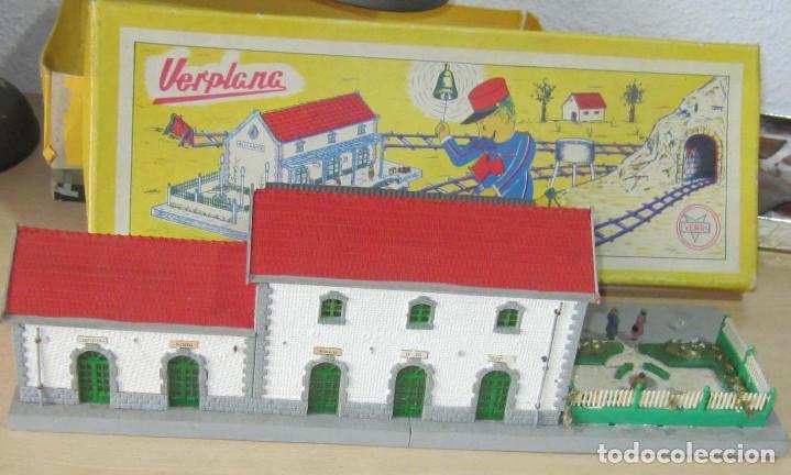 Trenes Escala: VERPLANA ( VERDU,IBI) ESTACION PARA FERROCARRILES HO,REF 32 CON CAJA Y COMPLEMENTOS - Foto 11 - 246723085