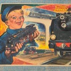 Trenes Escala: ANTIGUO TREN, FERROCARRIL ELECTRICO A PILA, PAYA, ESCALA H0, AÑOS 60. RARO Y DIFICIL. LEER MAS.... Lote 248473955