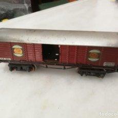 Trenes Escala: VAGÓN CARGA P.H. 1351 SANTA FE PRIMER MODELO 1932 - METAL - PAYA - 1932 - ESPAÑA. Lote 268739539