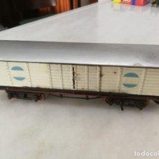Trenes Escala: VAGÓN CARGA SANTA FE PRIMER MODELO 1932 - METAL - PAYA - 1932 - ESPAÑA. Lote 268746199