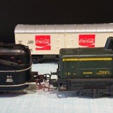 Trenes Escala: LOTE TRENES, DOS LOCOMOTORAS Y VAGÓN COCA-COLA, PAYÀ, LIMA, VED FOTOS, HO. Lote 270553568