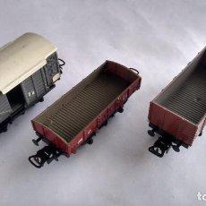 Trains Échelle: PAYA H0 ,LOTE DE 3 VAGONES. TAL CUAL FOTOS. Lote 271939718