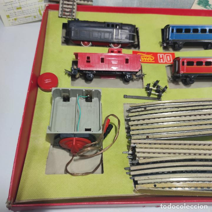 Trenes Escala: Ferrocarril eléctrico a pilas con humo. Payá. Años 50-60. Instrucciones y desplegable de accesorios - Foto 3 - 276705568