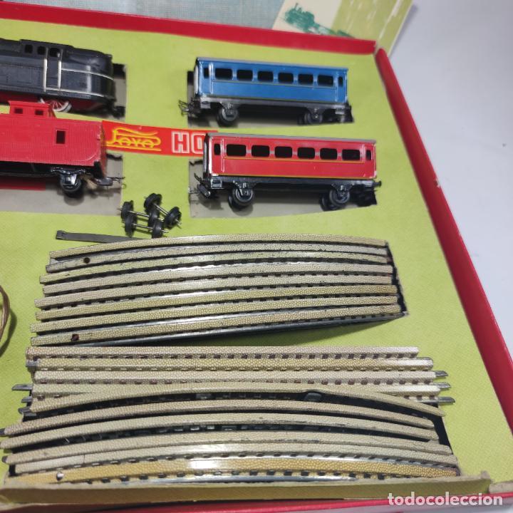 Trenes Escala: Ferrocarril eléctrico a pilas con humo. Payá. Años 50-60. Instrucciones y desplegable de accesorios - Foto 4 - 276705568