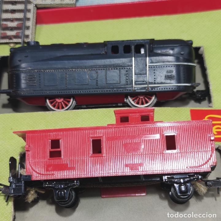 Trenes Escala: Ferrocarril eléctrico a pilas con humo. Payá. Años 50-60. Instrucciones y desplegable de accesorios - Foto 5 - 276705568