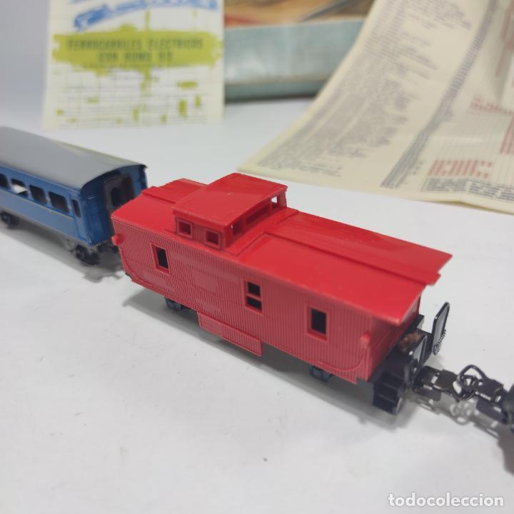 Trenes Escala: Ferrocarril eléctrico a pilas con humo. Payá. Años 50-60. Instrucciones y desplegable de accesorios - Foto 13 - 276705568