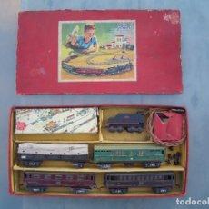 Trenes Escala: ANTIGUO TREN PAYA CON CAJA REF 1402 LOCOMOTORA 1401 VAGON LOTE VAGONES ESCALA. Lote 277285978
