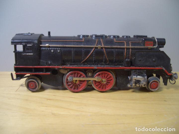 Trenes Escala: ANTIGUO TREN PAYA CON CAJA REF 1402 LOCOMOTORA 1401 VAGON LOTE VAGONES ESCALA - Foto 2 - 277285978